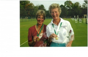 Jenny and Sue Hill. Super seniors world team and individual tennis championships 2004