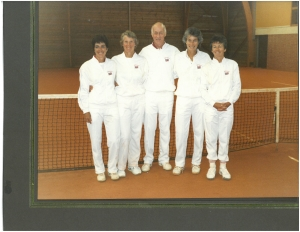 Jenny, Ann Hayden Jones, Geoff Ward (manager), Virginia Wade. Gold in France 1986 and Jackie Boothman
